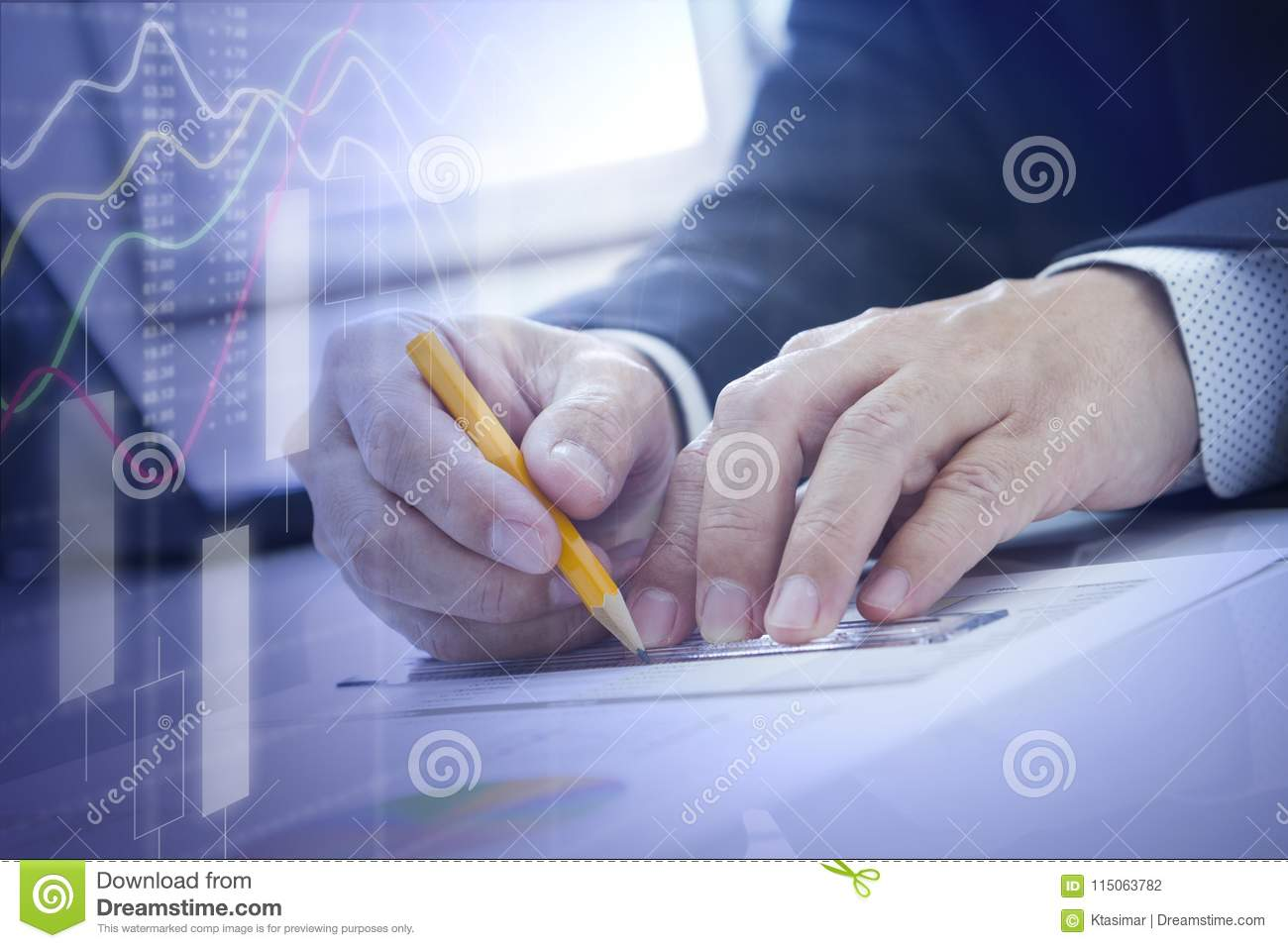Business And Finance Or Accounting Data Analysis Stock ...