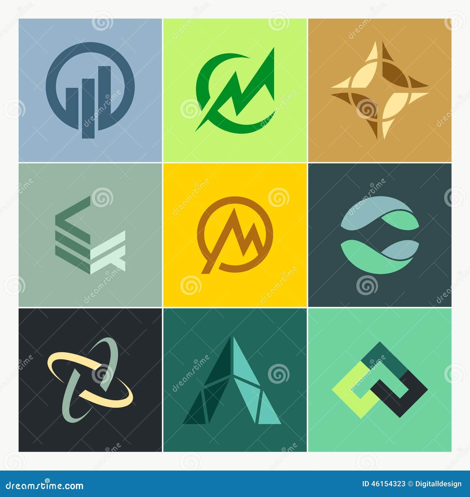 Finance Logo: Business Finance Construction Logos Stock Illustration