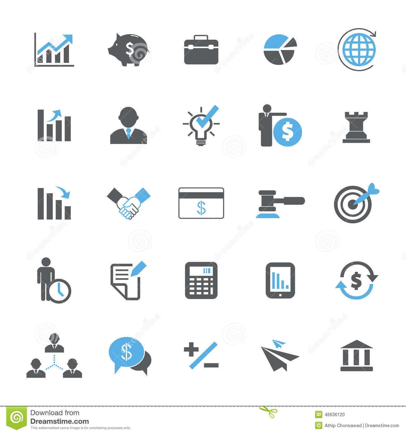 Business Finance: Business And Finance Icon Set Stock Vector