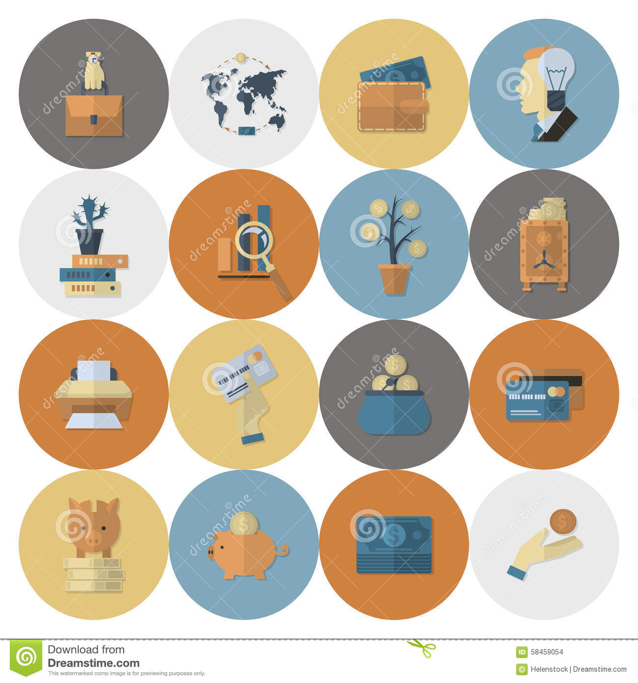 Finance Icon Set: Business And Finance Icon Set Stock Vector