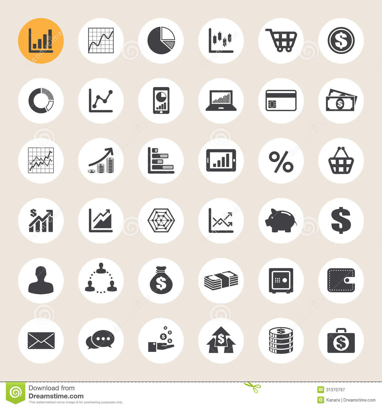 Business Finance: Business And Finance Icon Set. Royalty Free Stock