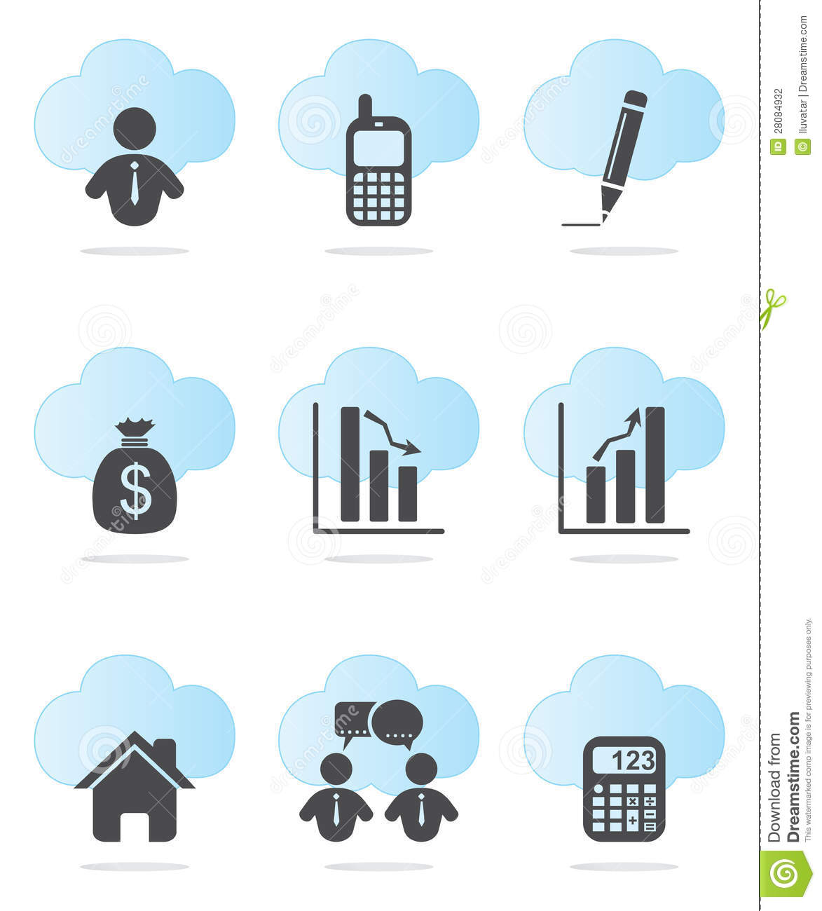 Business Finance: Business And Finance Icons Stock Photography