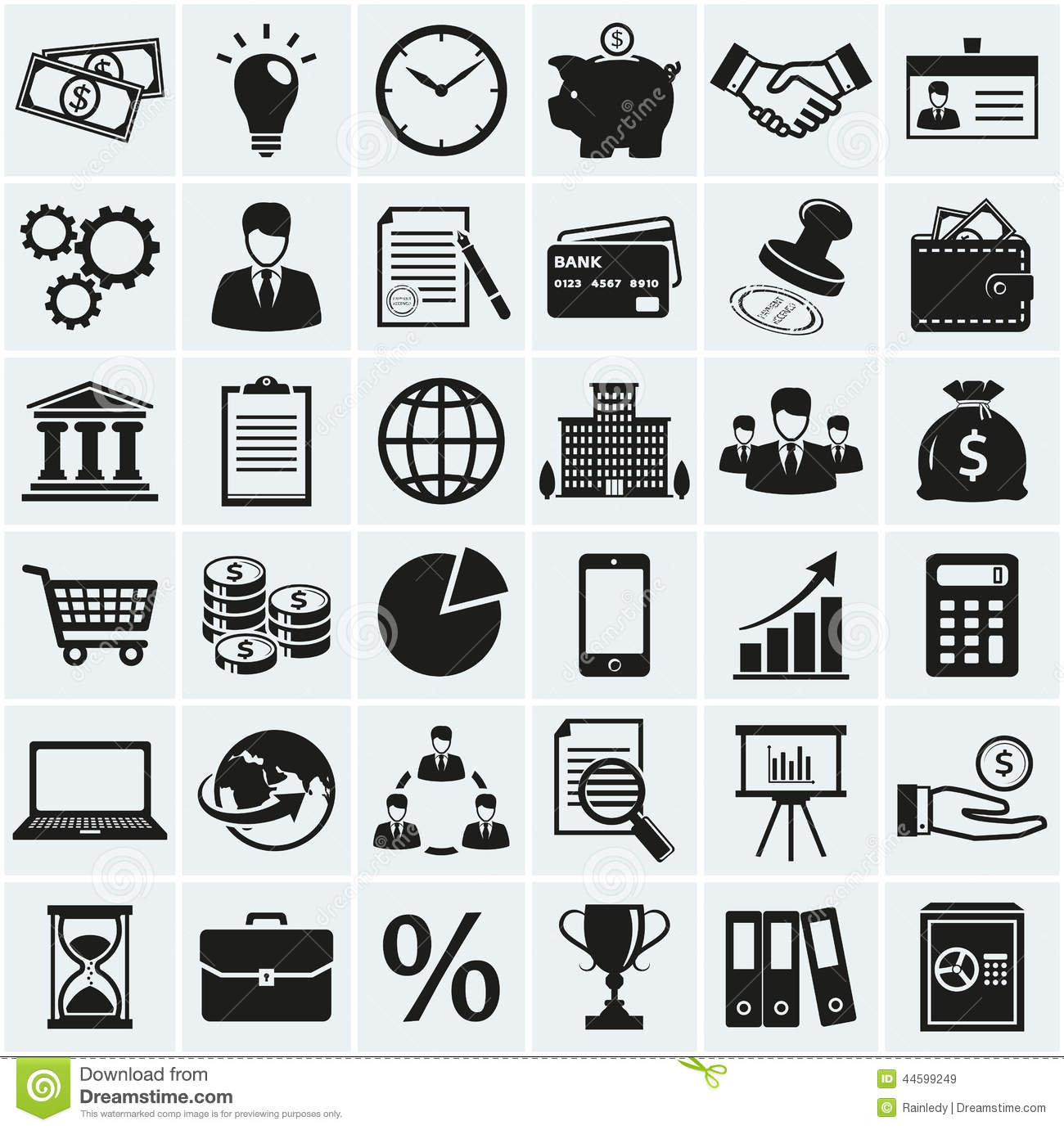 Stock Illustration Business Finance Icons Vector Set Marketing Concept Symbols Collection Silhouette Black Elements Your Design Image44599249 on money bag cartoon