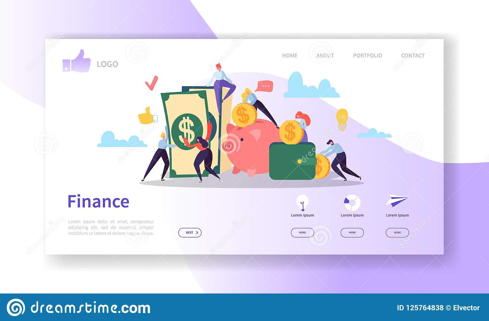 business and finance landing page template  website layout