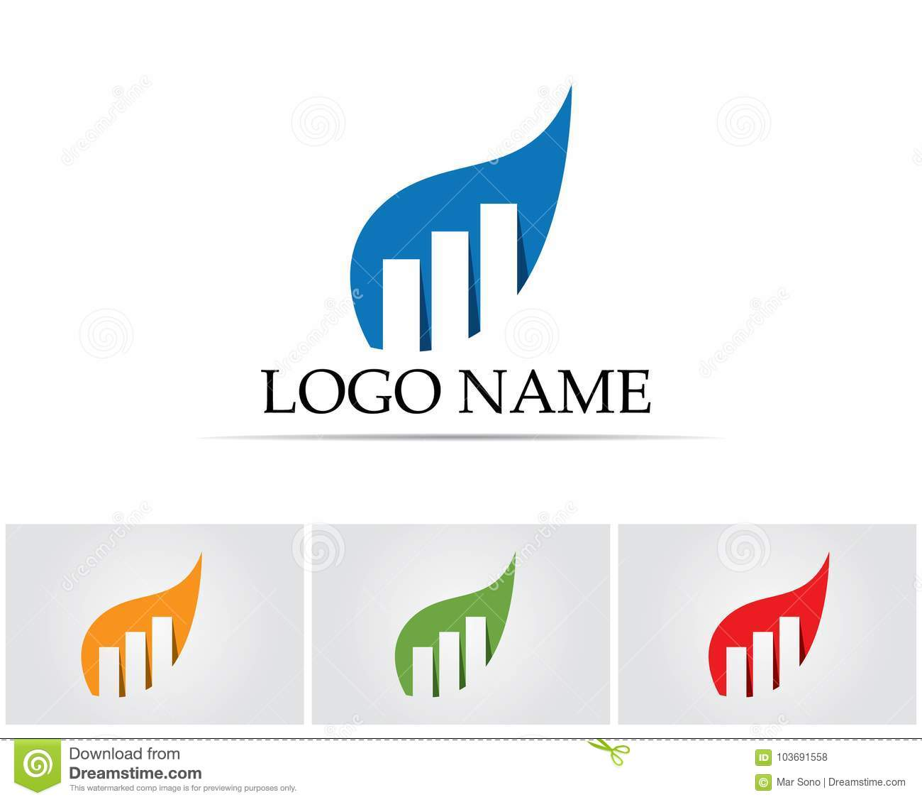 Business Finance: Business Finance Logo And Symbols Vector Concept