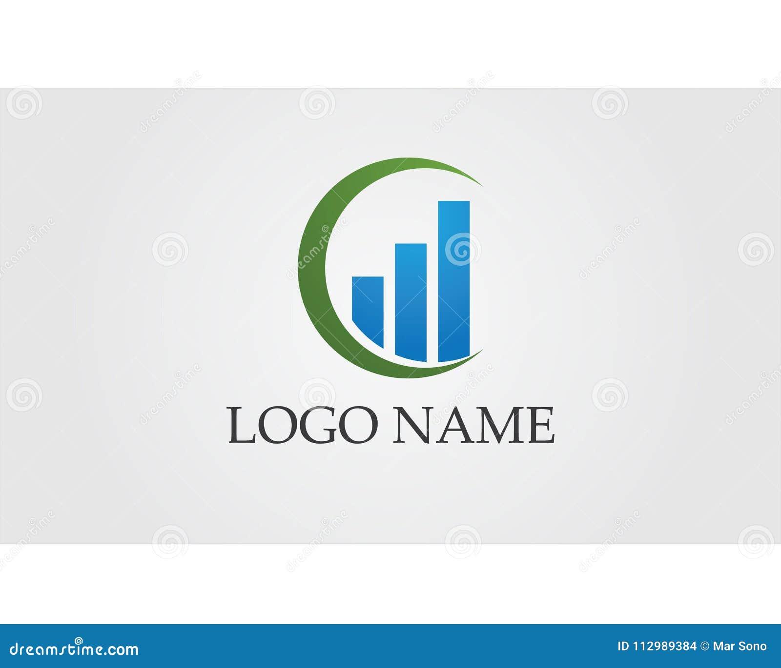 Business finance logo and symbols vector concept illustration..