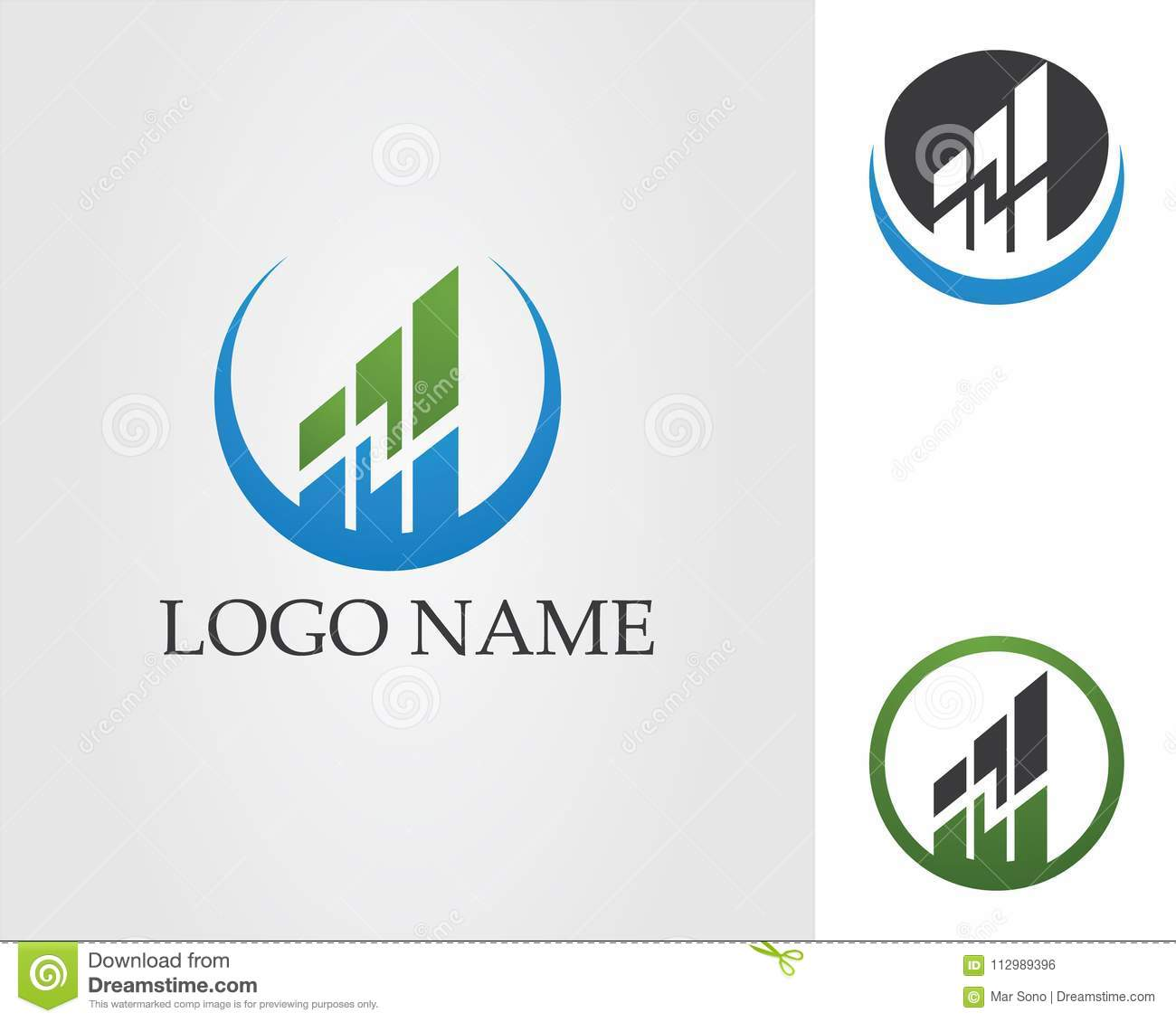 Business finance logo and symbols vector concept illustration..