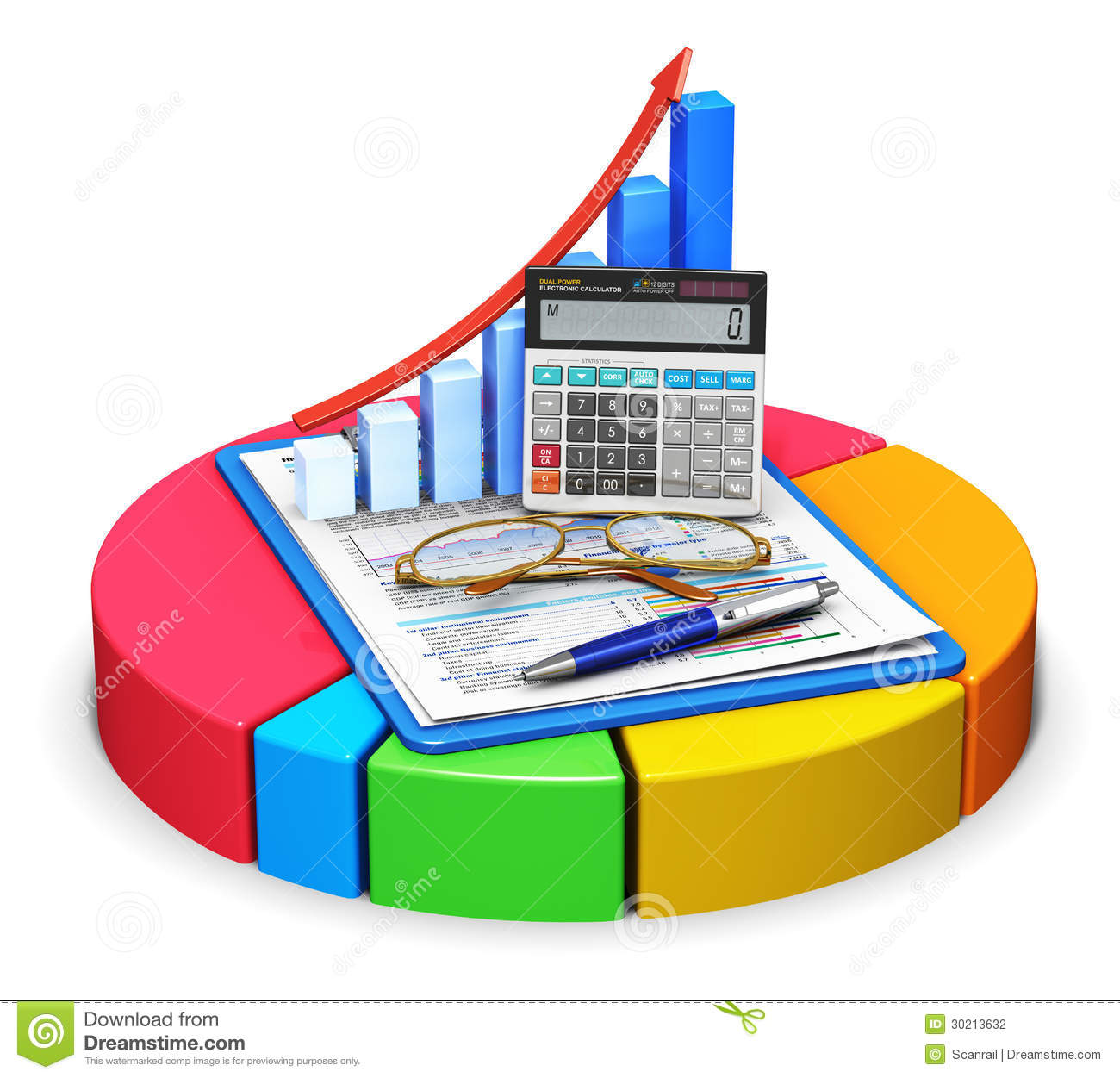 Accounting And Statistics Concept Stock Photography