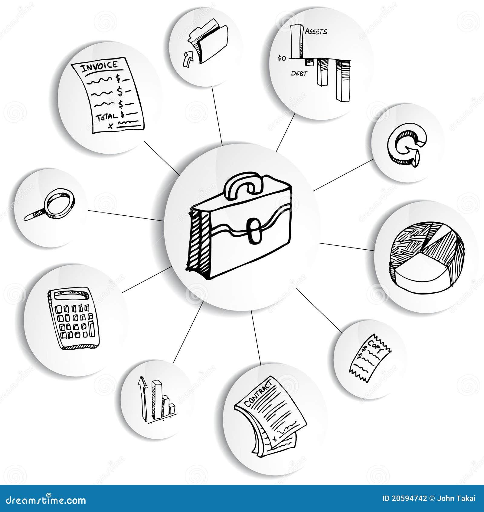Business Financial Accounting Diagram Wheel Stock Vector ...
