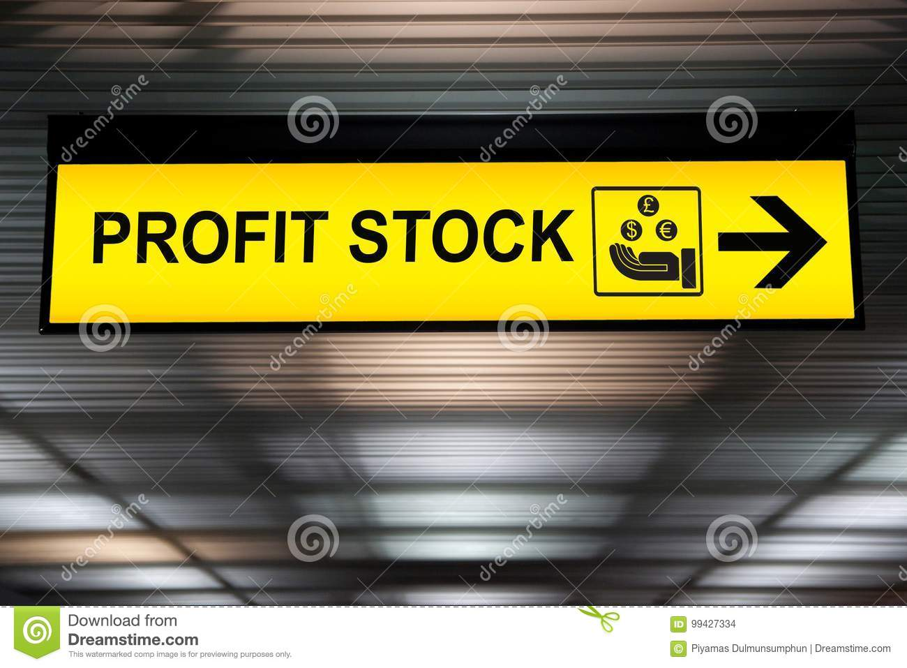 Business financial investment concept :stock money profit yellow