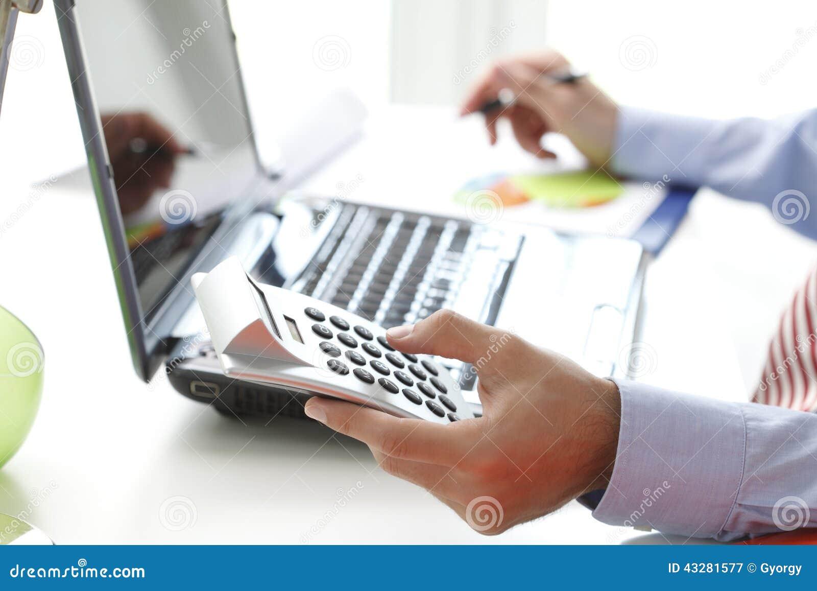 Business financier working at bank