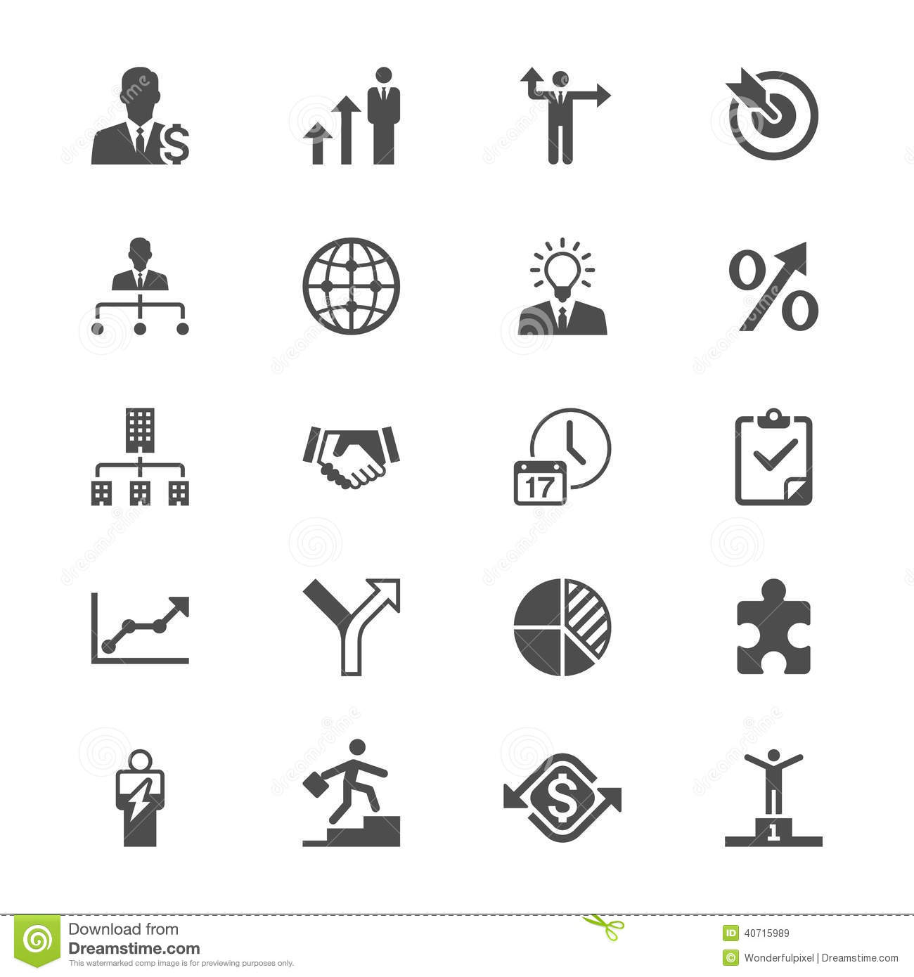 Business flat icons