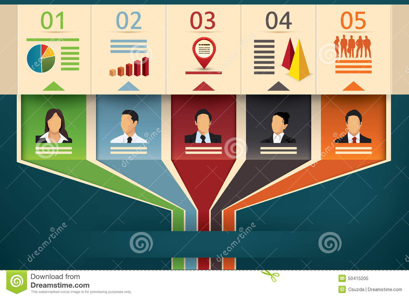 Business flow chart of a team or management stock vector business flow chart of a team or management geenschuldenfo Choice Image
