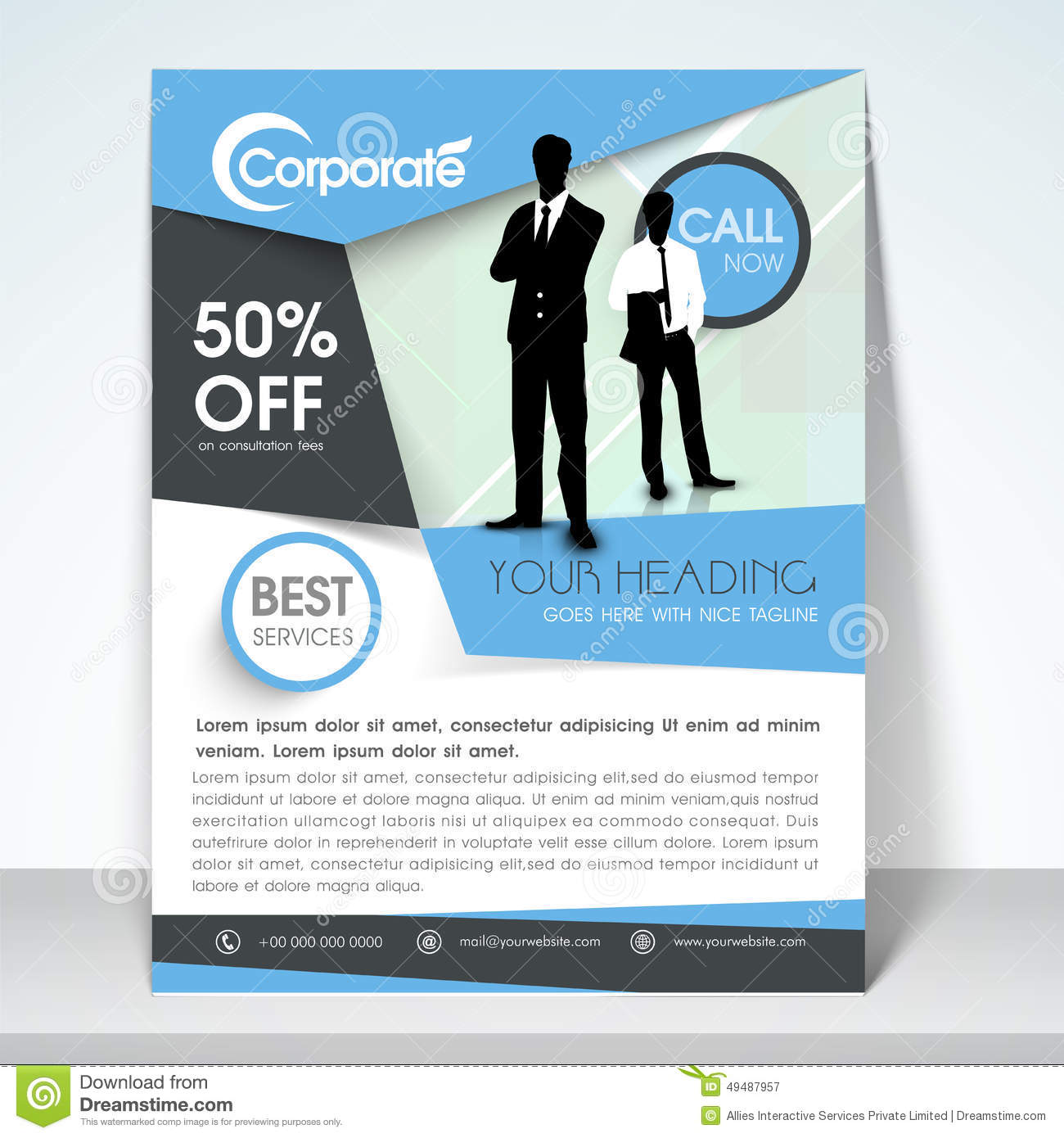 business flyer banner or template stock illustration image business flyer banner or template