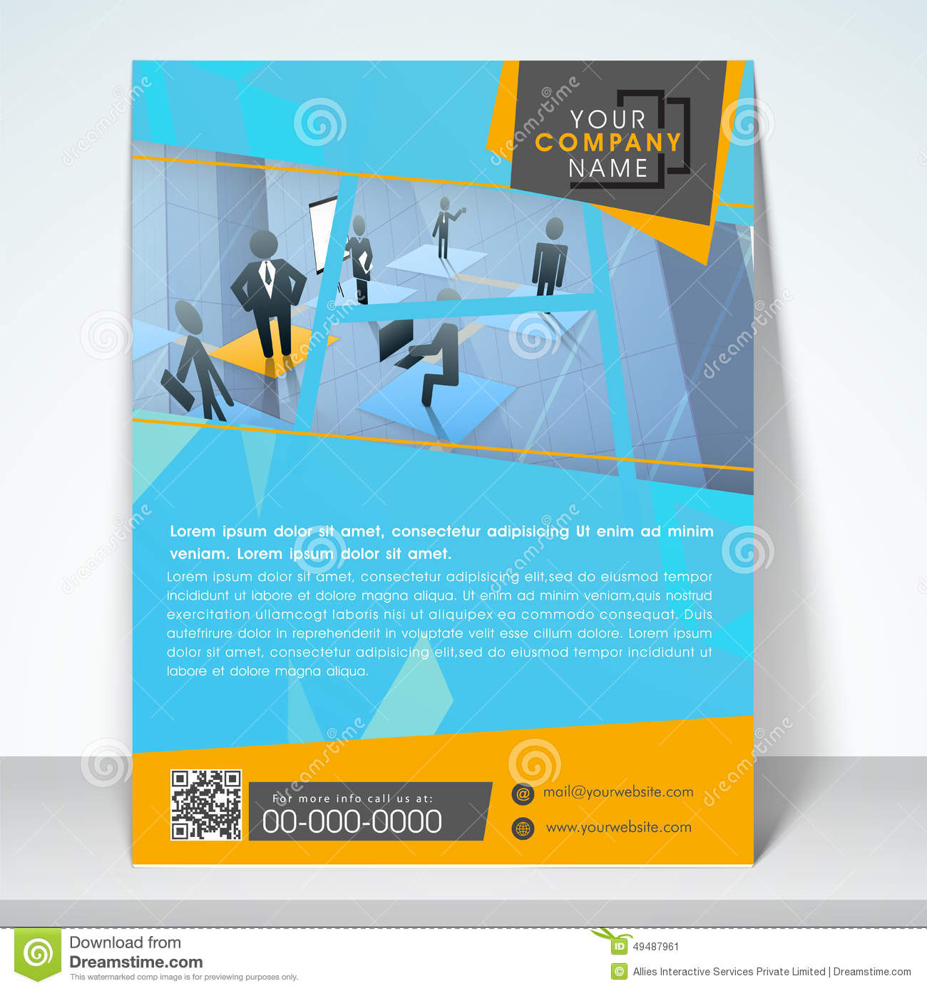 Business Flyer Banner Or Template Stock Illustration