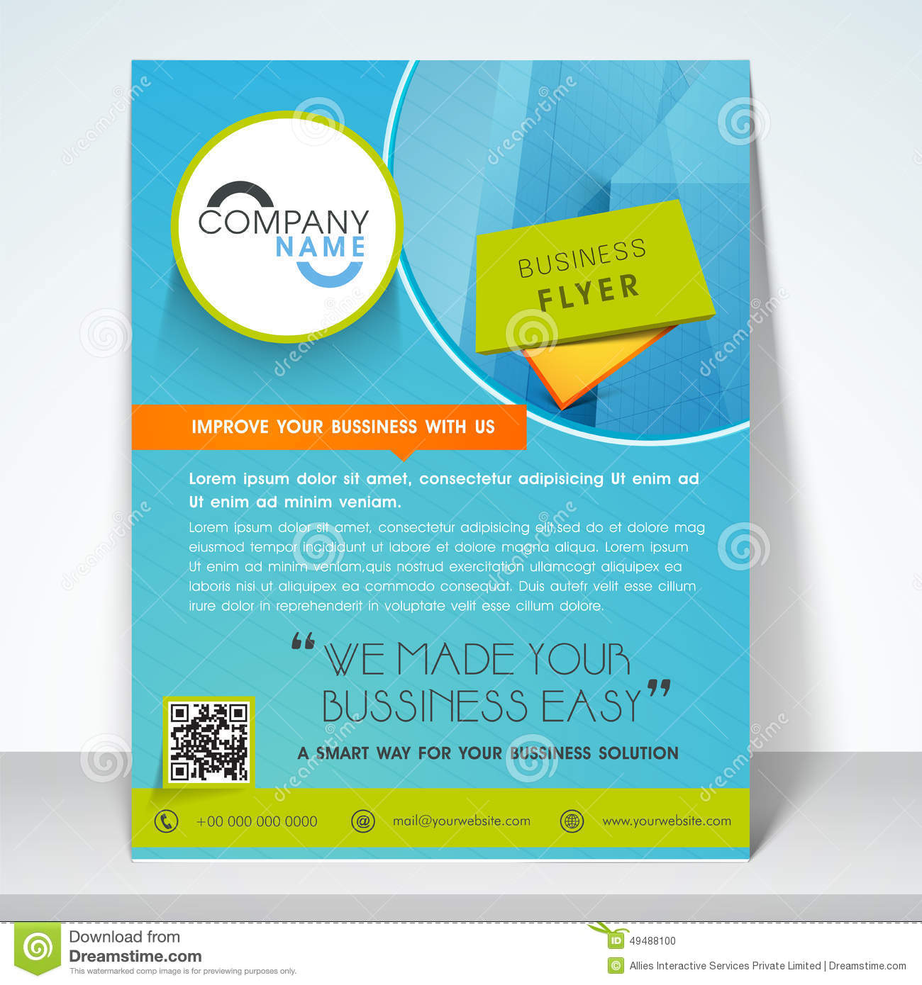one page brochure templates - business flyer banner or template stock photo image