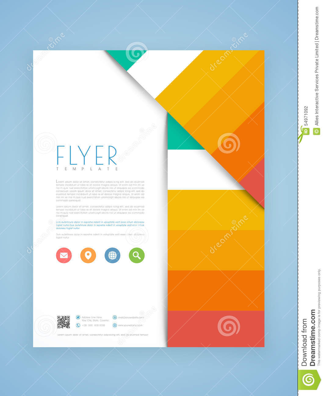 Business Flyer Brochure Or Template Design Illustration – Business Brochure Design