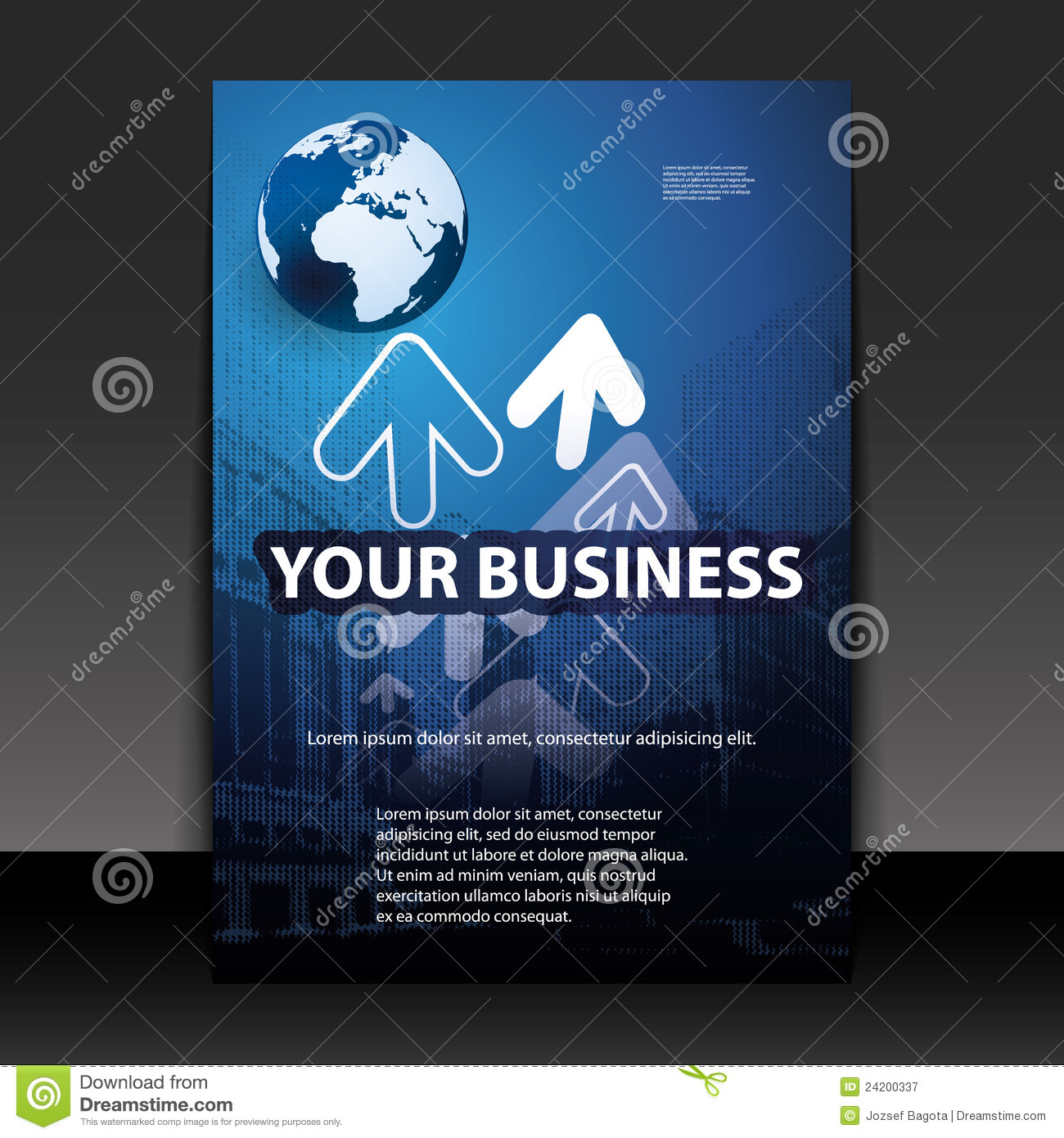 business flyer or cover design royalty stock photography business flyer or cover design