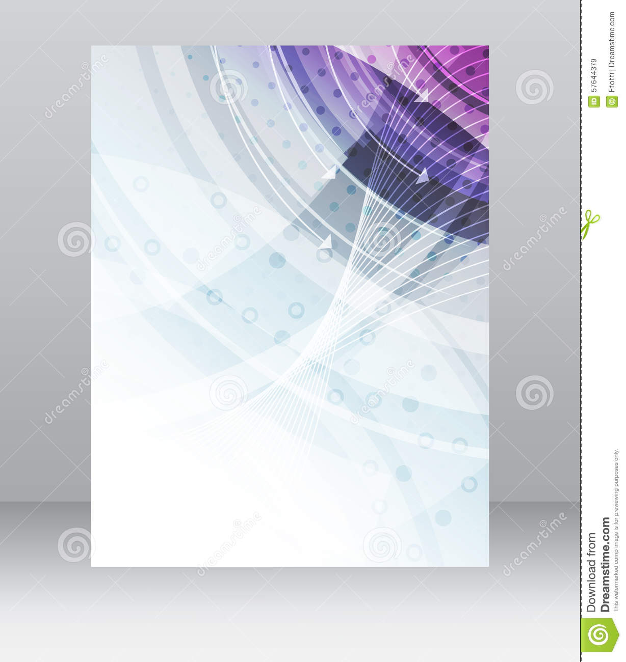business flyer template  brochure  cover design  folder or