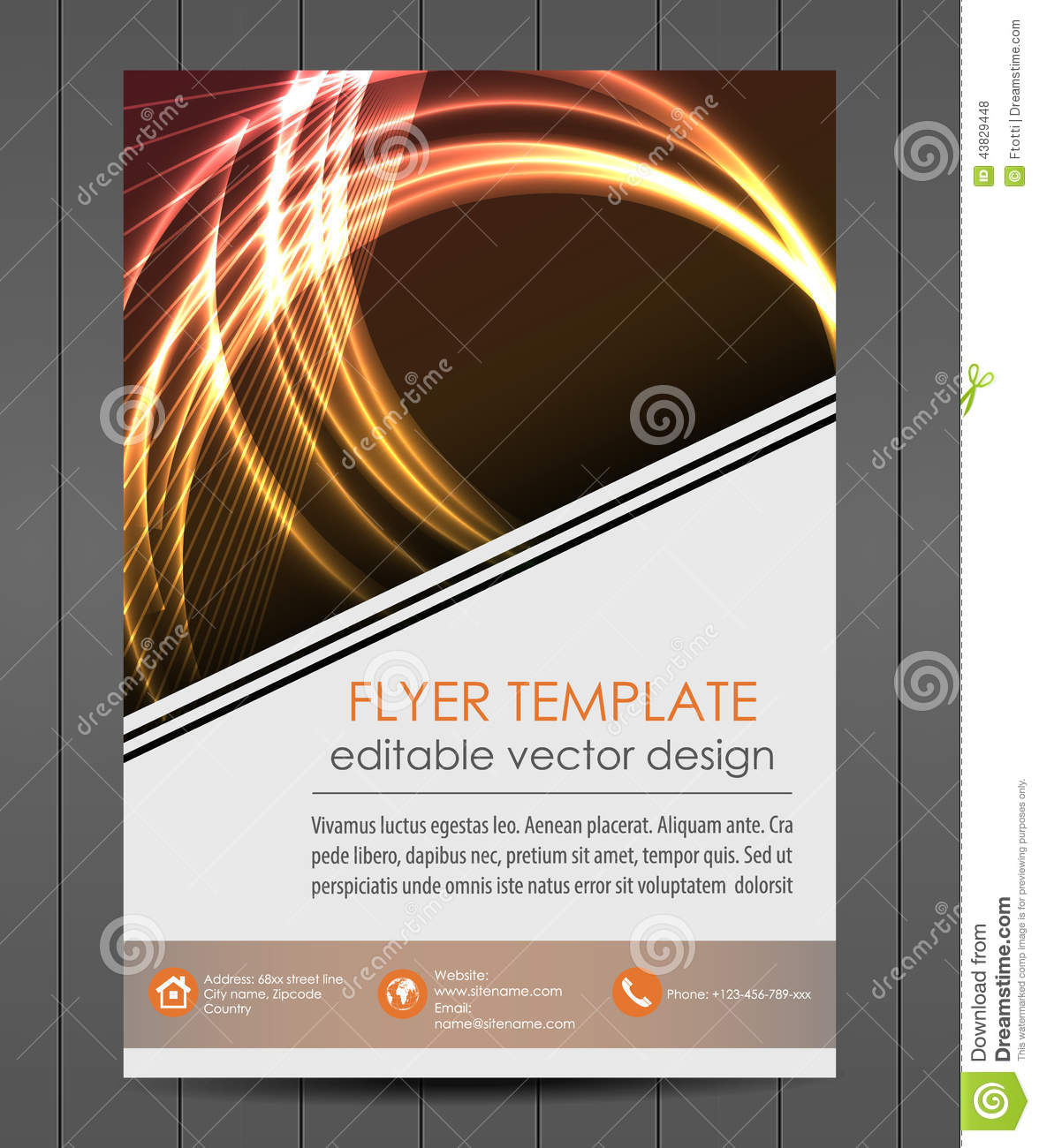 business flyer template or corporate banner cover design stock