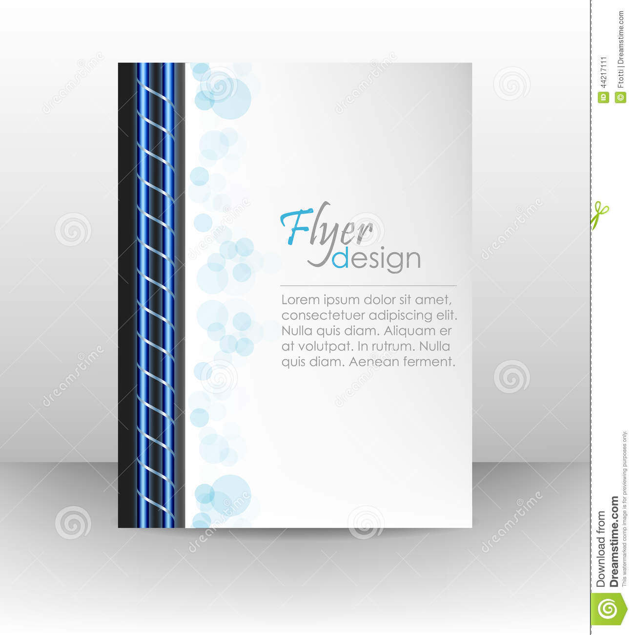 business flyer template or corporate banner cover design workbook