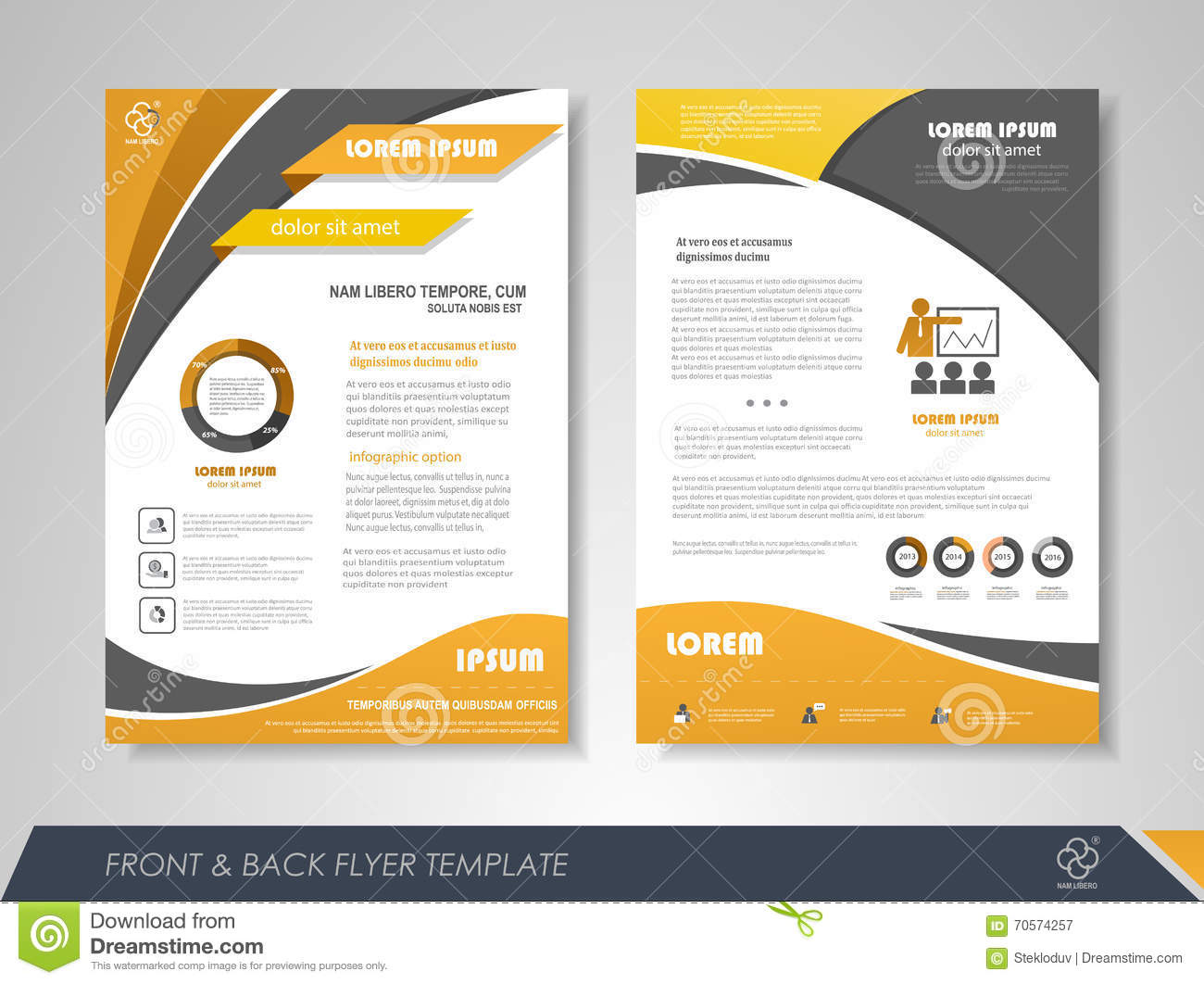 Business flyer template stock vector illustration of for Free bookkeeping brochure templates