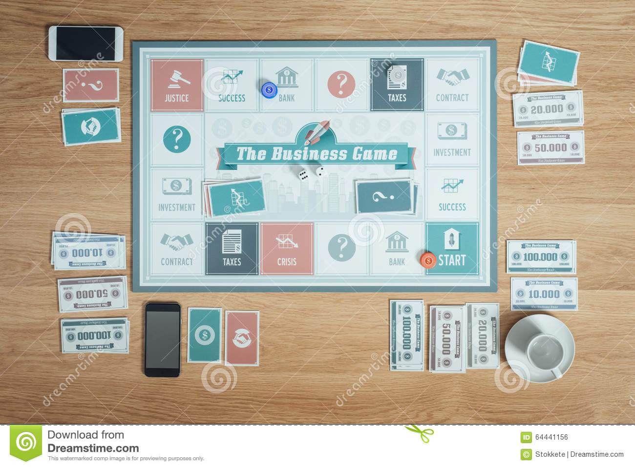 The Business Game Stock Photo Image Of Phone Ideas 64441156