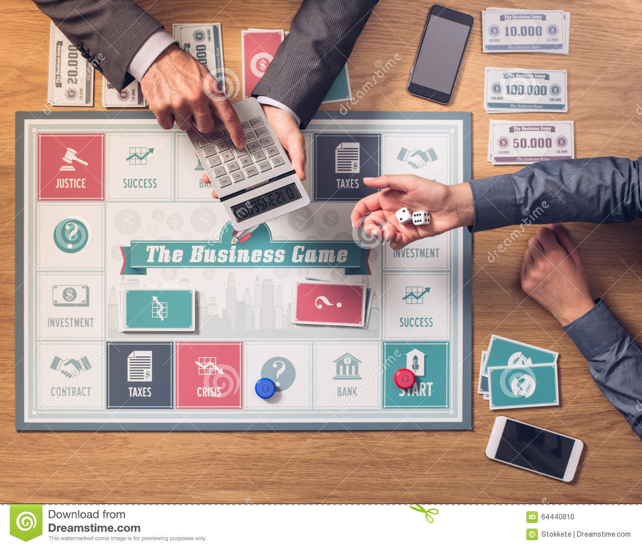 The Business Game Stock Photo Image Of Businessman Entertainment