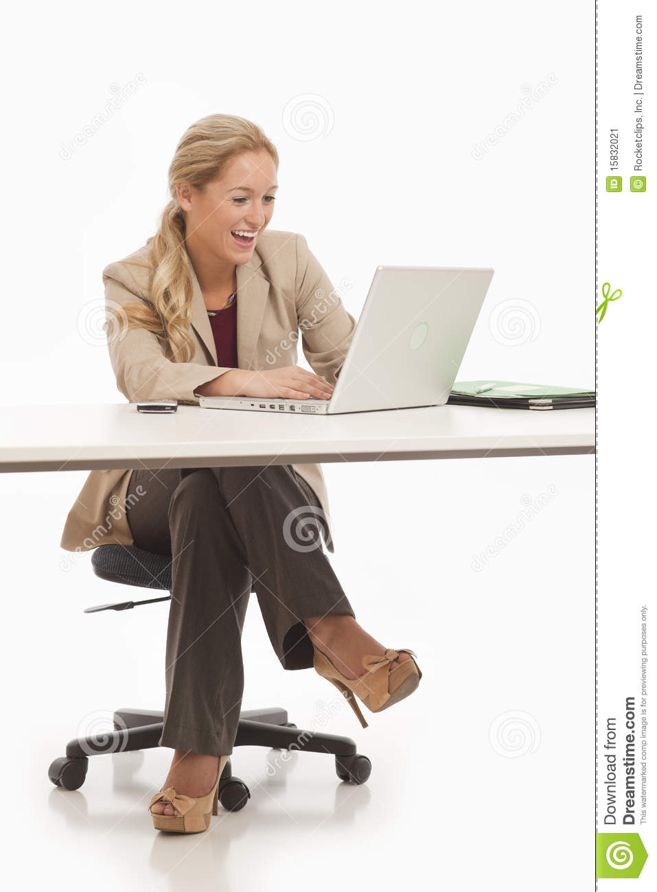 Business girl sitting at desk stock image image of businesswoman lady 15832021 - Desk girl image in ...