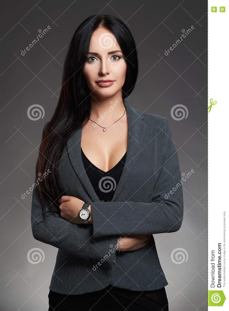 Business Girl In Suit Business Lady Elegant Beautiful