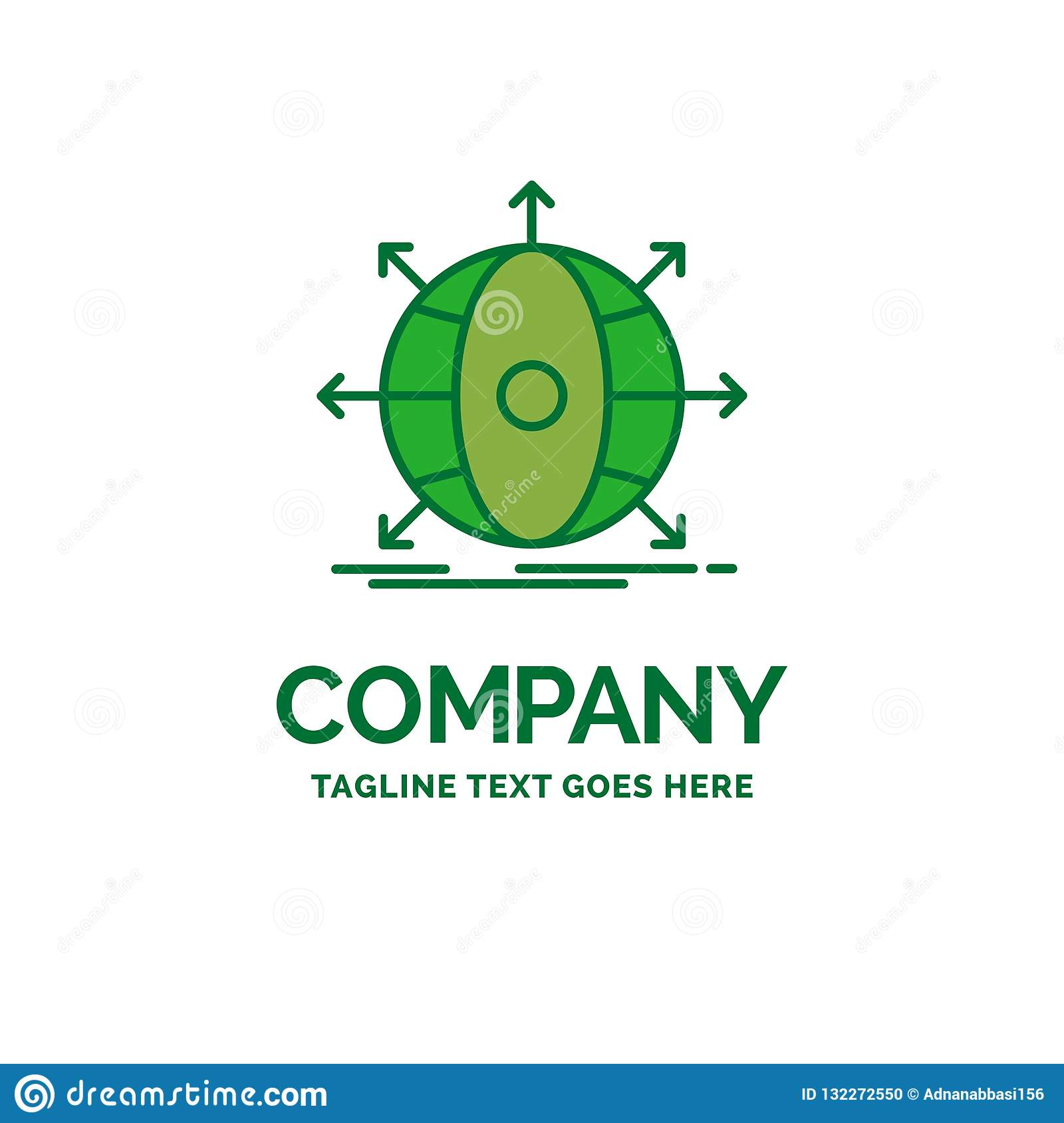 business, global, international, network, web Flat Business Logo