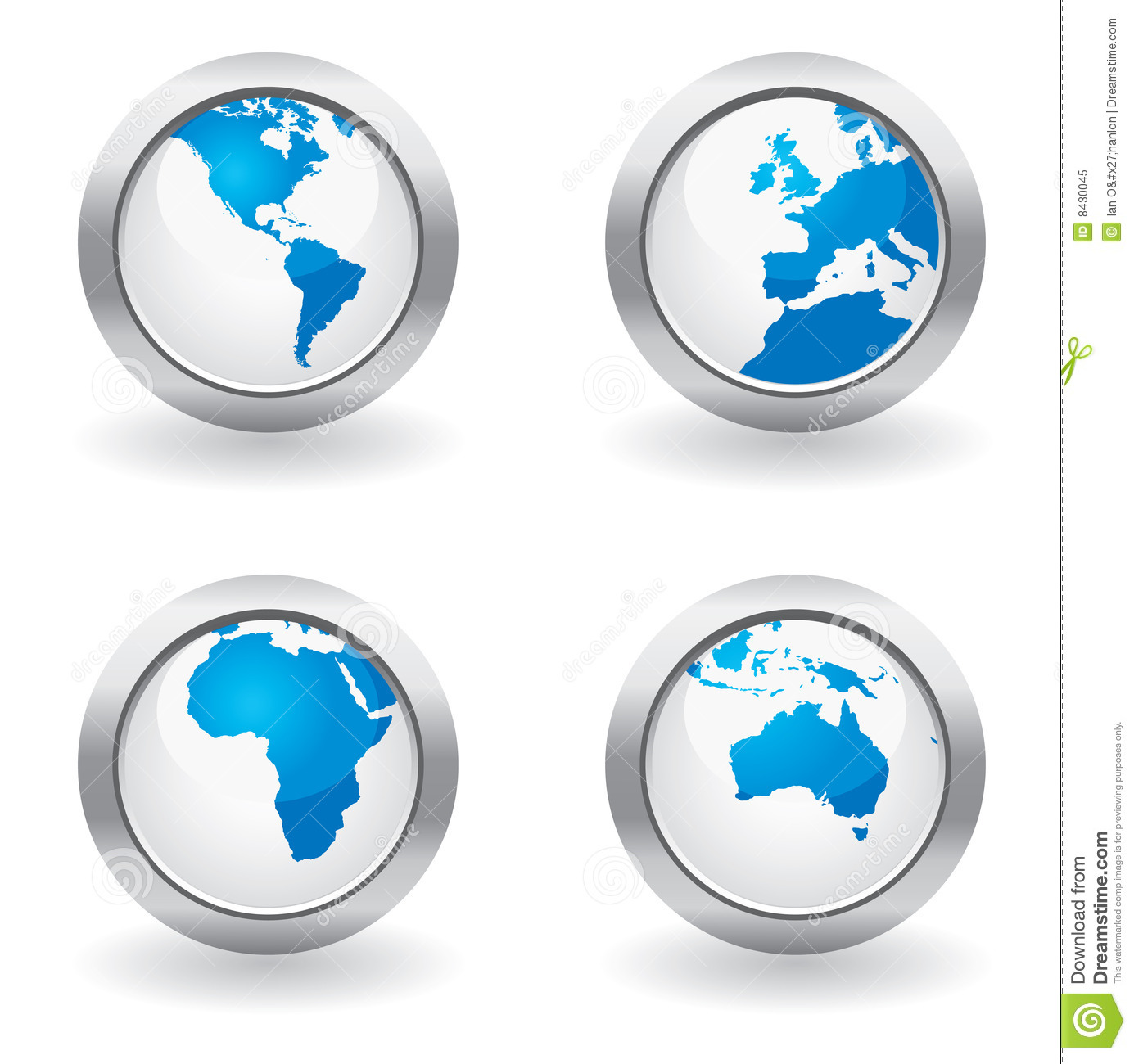 Business globe buttons