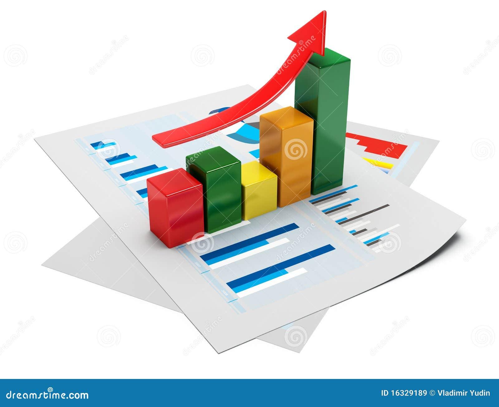 Business graph 3d stock illustration  Illustration of market