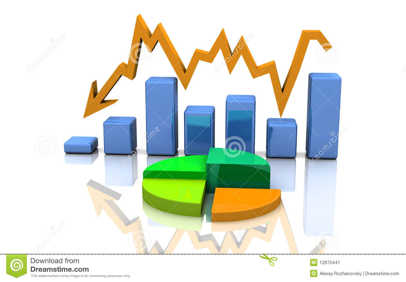 Business Graph  Chart  Diagram  Bar Stock Illustration