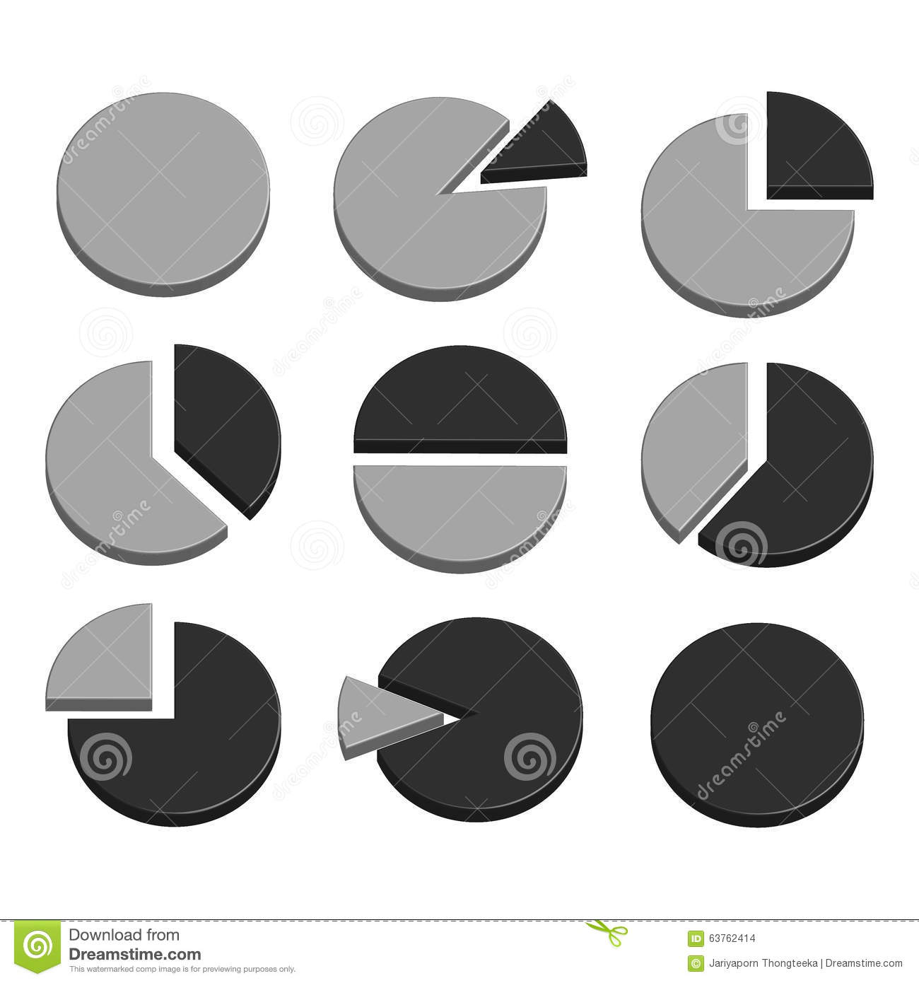 Business graph diagram chart icon set for design presentation in business graph diagram chart icon set for design presentation in 3d pie chart in mono nvjuhfo Choice Image
