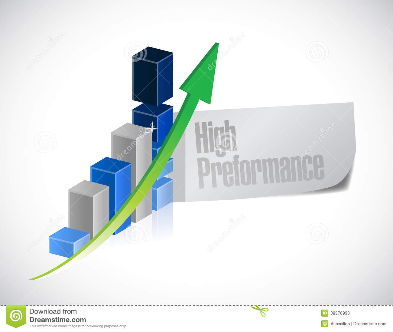 Free Online Architecture Design Business Graph High Performance Illustration Royalty Free