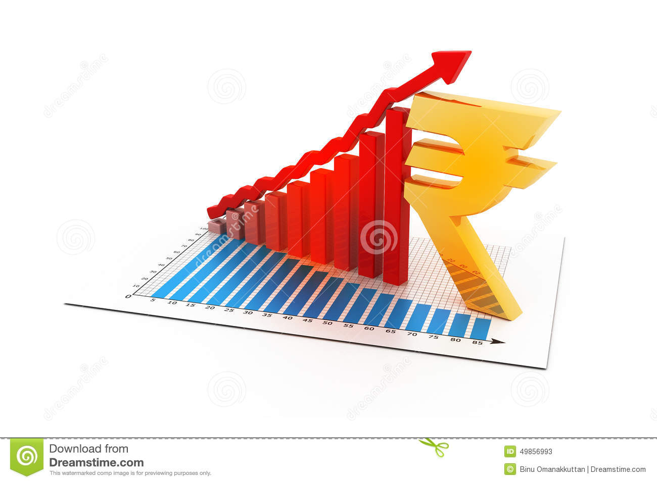 Indian rupee growth chart stock photo image of paper 63048808 business graph with indian rupee sign stock photos nvjuhfo Gallery