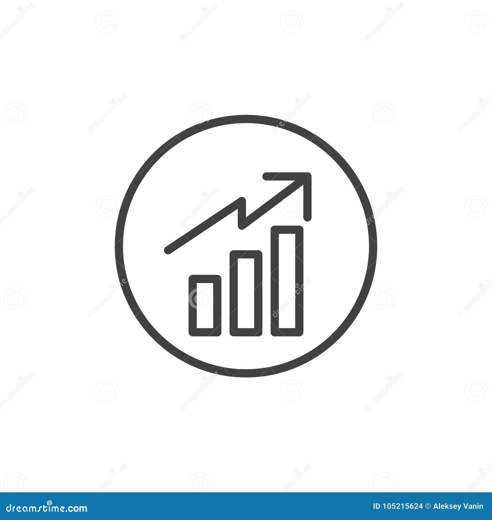 Business graph line icon