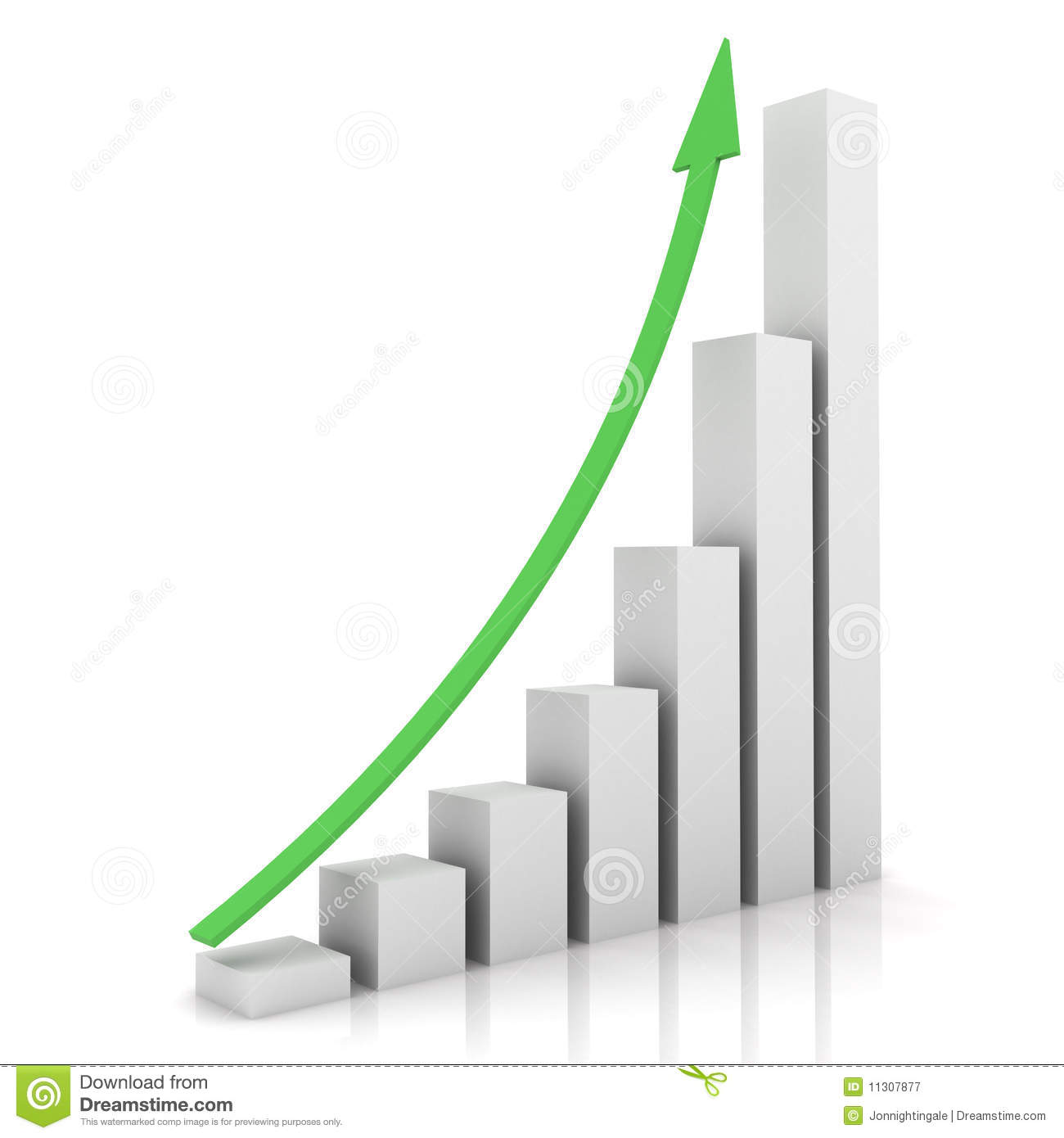 Business Graph Showing Growth Stock Illustration ...