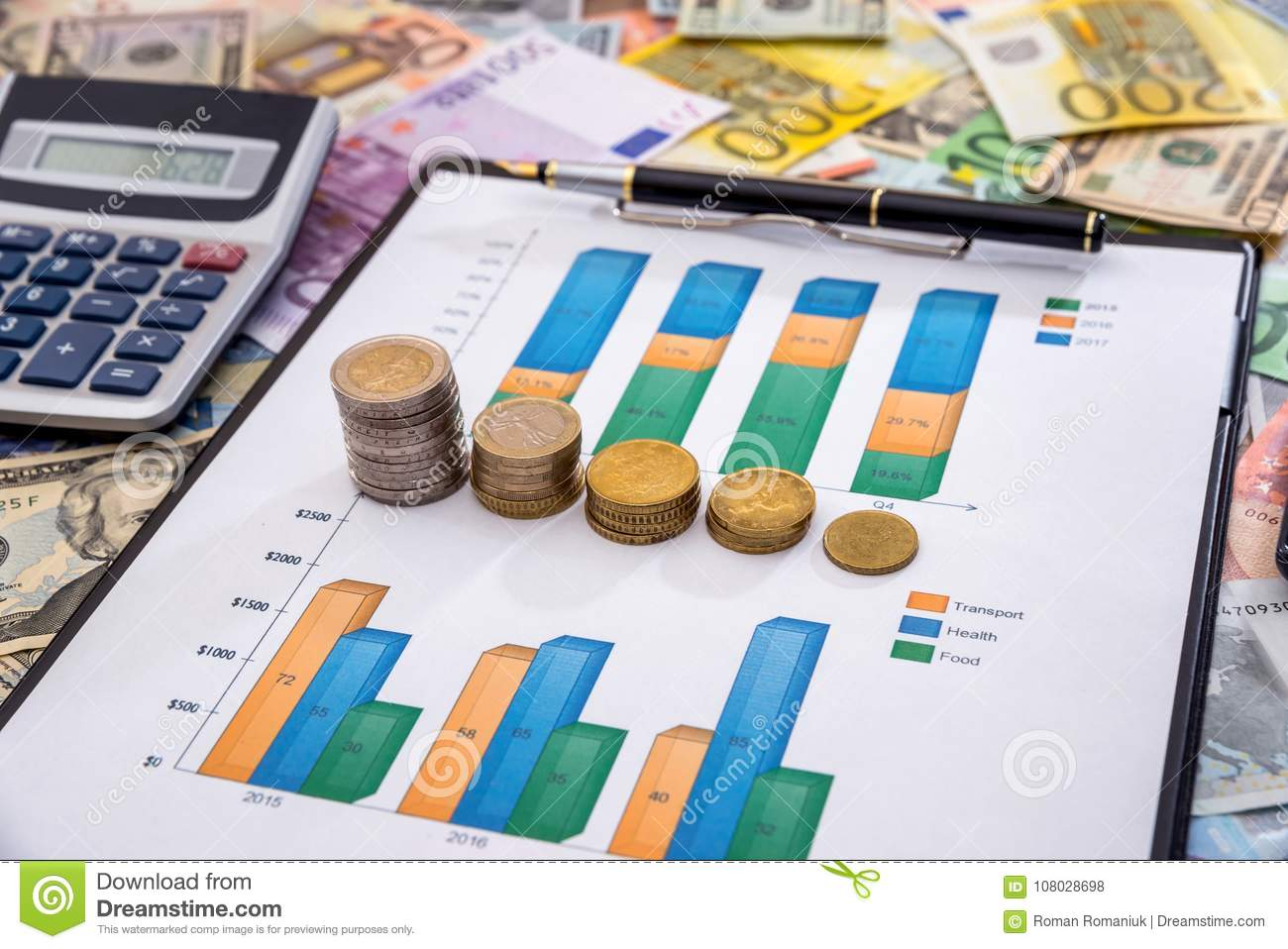 Business Graphic With Euro And Dollar Stock Photo Image Of Loan