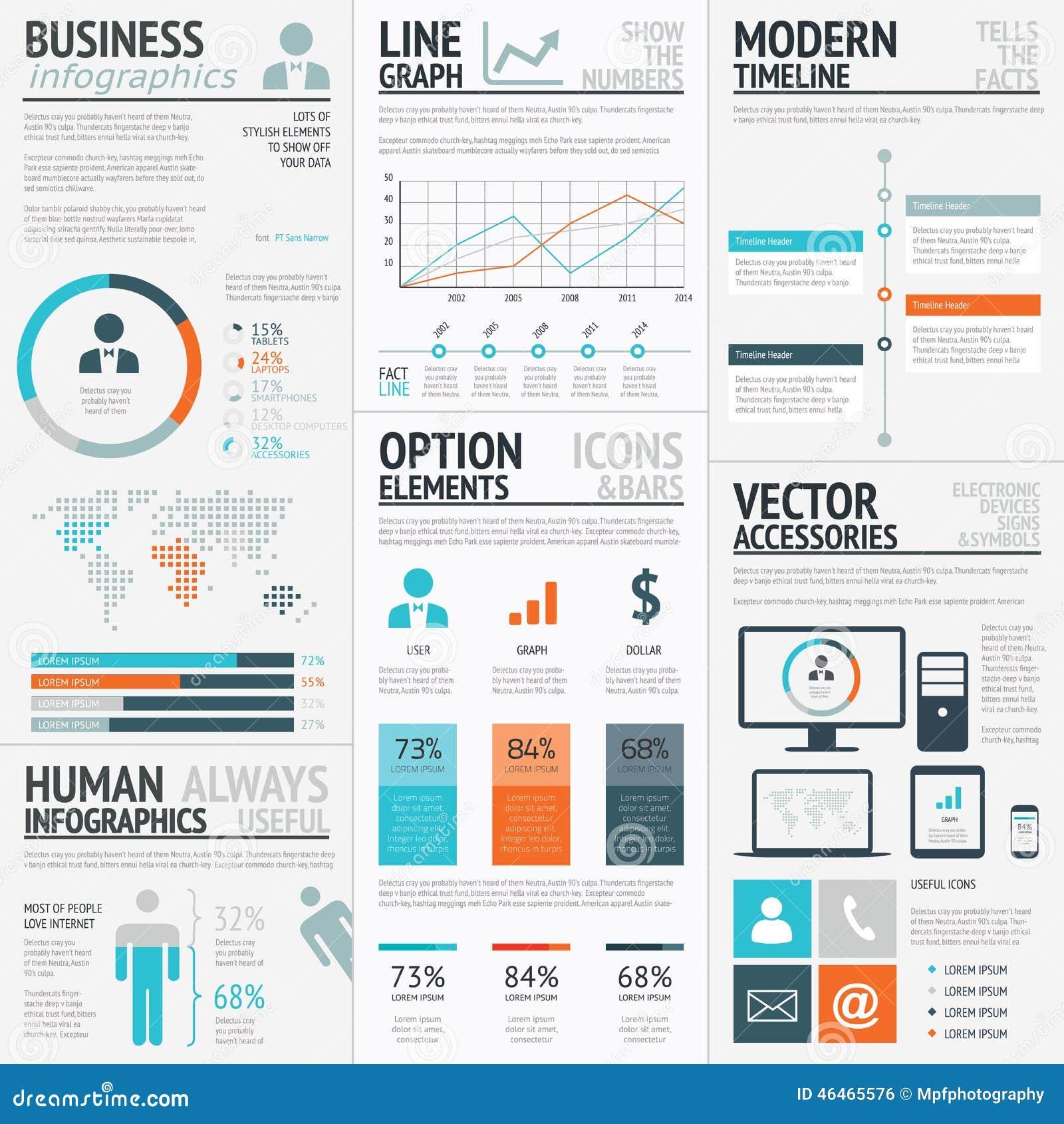 Business Graphics Data Visualization Vector Element Infographics ...