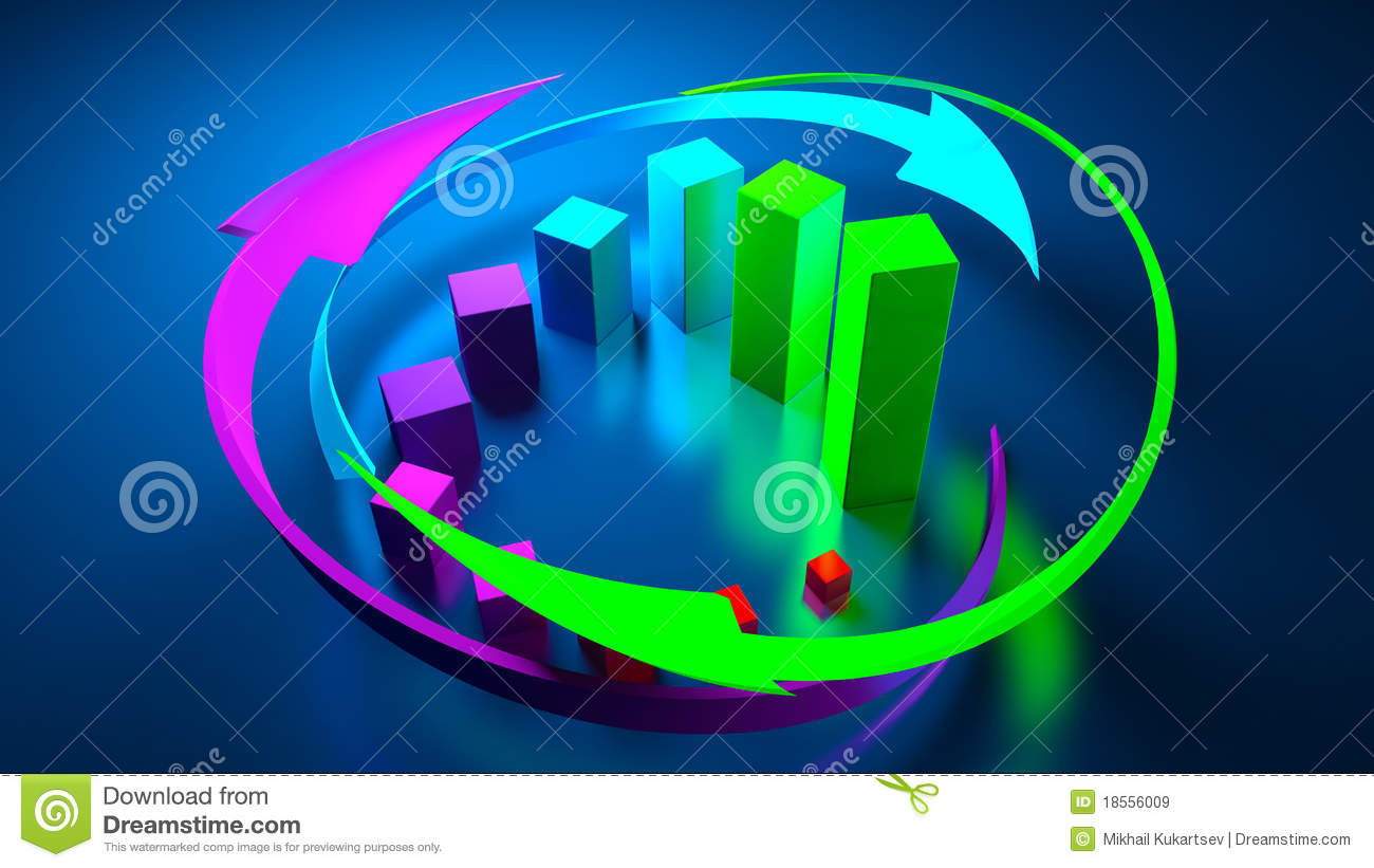 Business Graphics And Forex Indicators Stock Illustration - Illustration of calculate, graphic ...