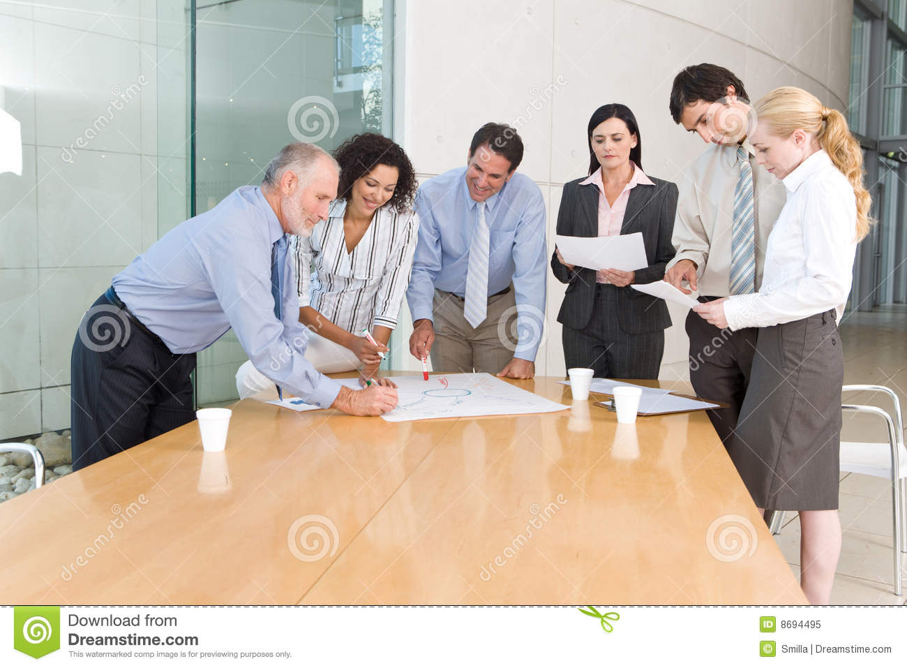 Business Group Meeting Royalty Free Stock Photo - Image: 8694495