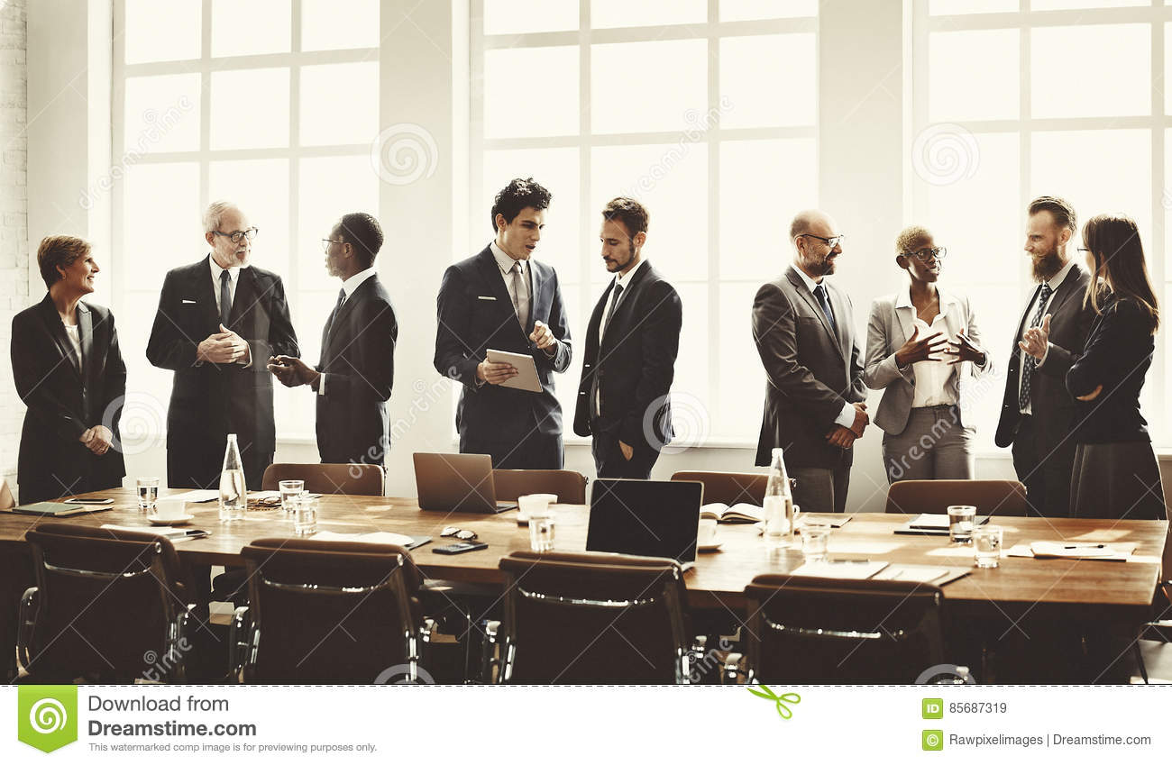 Business Group Meeting Discussion Strategy Working Concept