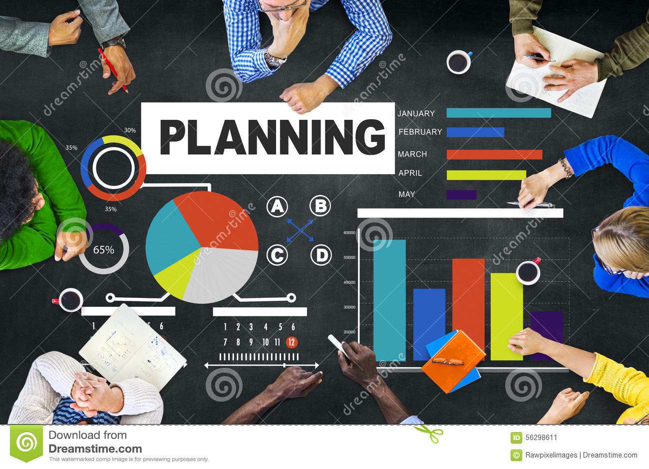 a discussion of management planning The management planning process starts with defining a big picture vision and should then set achievable steps and benchmarks for realizing that vision.