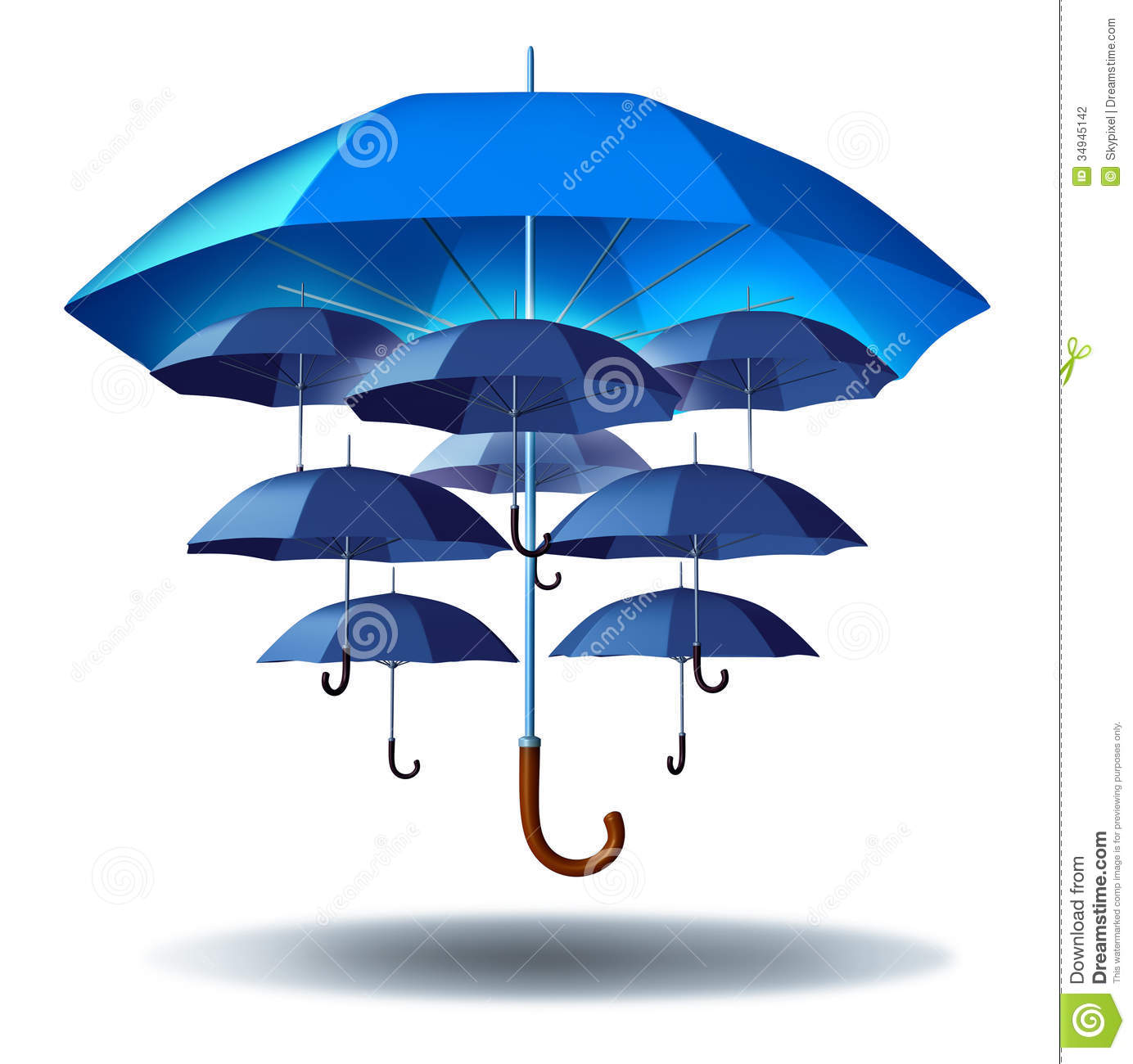 Business group protection stock illustration image of plan 34945142 - Paraplu balances ...