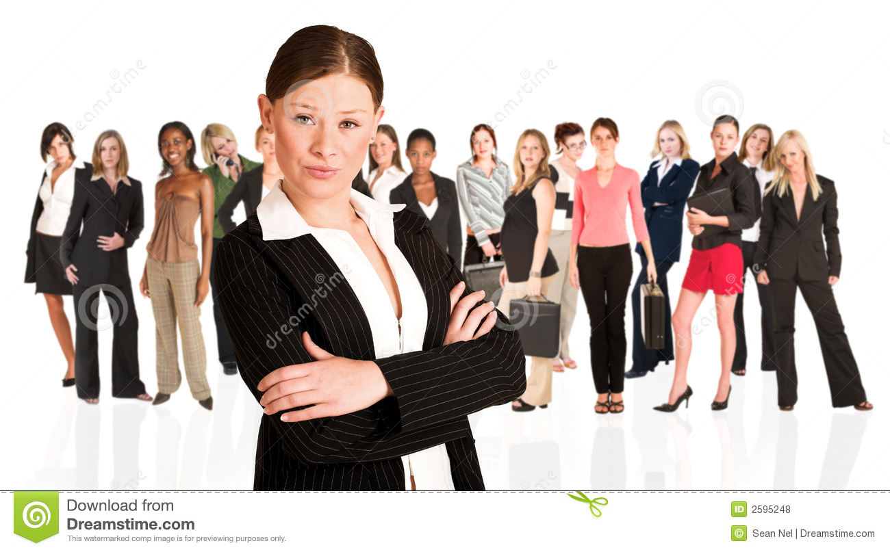 Business group of woman only