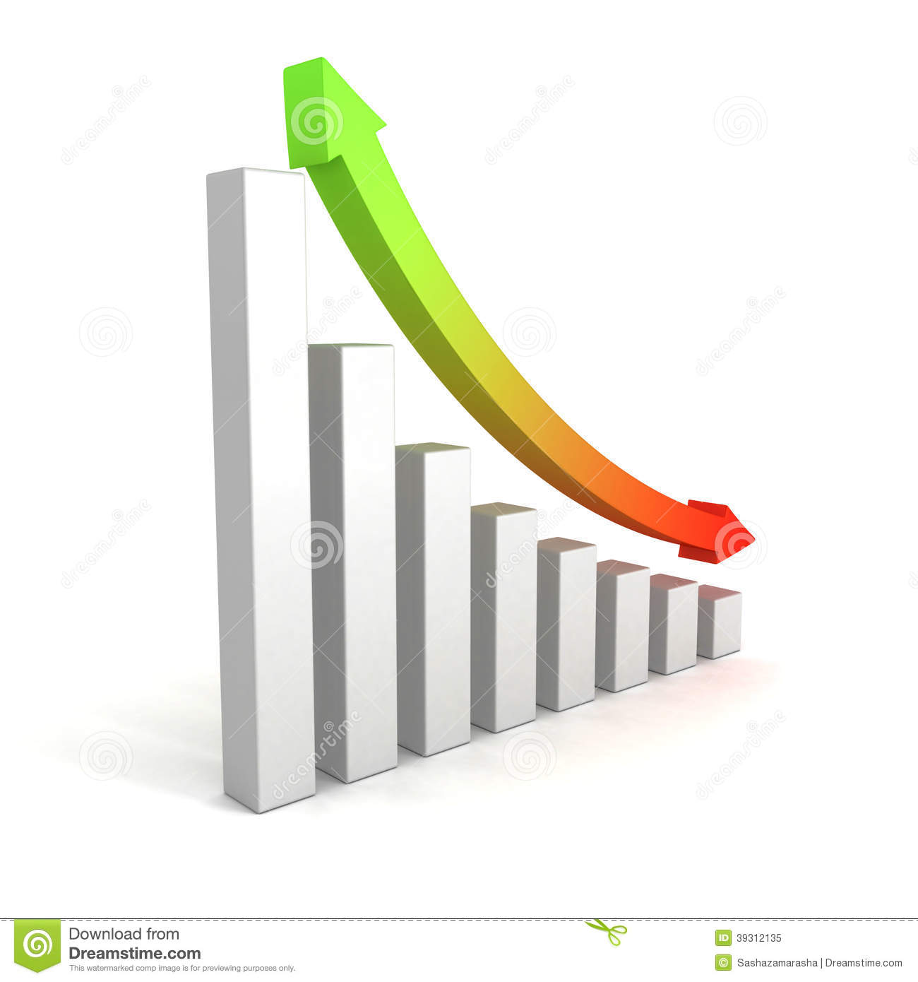 Business growing bar chart with up down arrow stock for Table up and down but