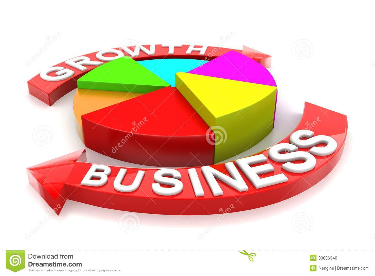 Business Growth Arrow Circle Graph Stock Illustration ...