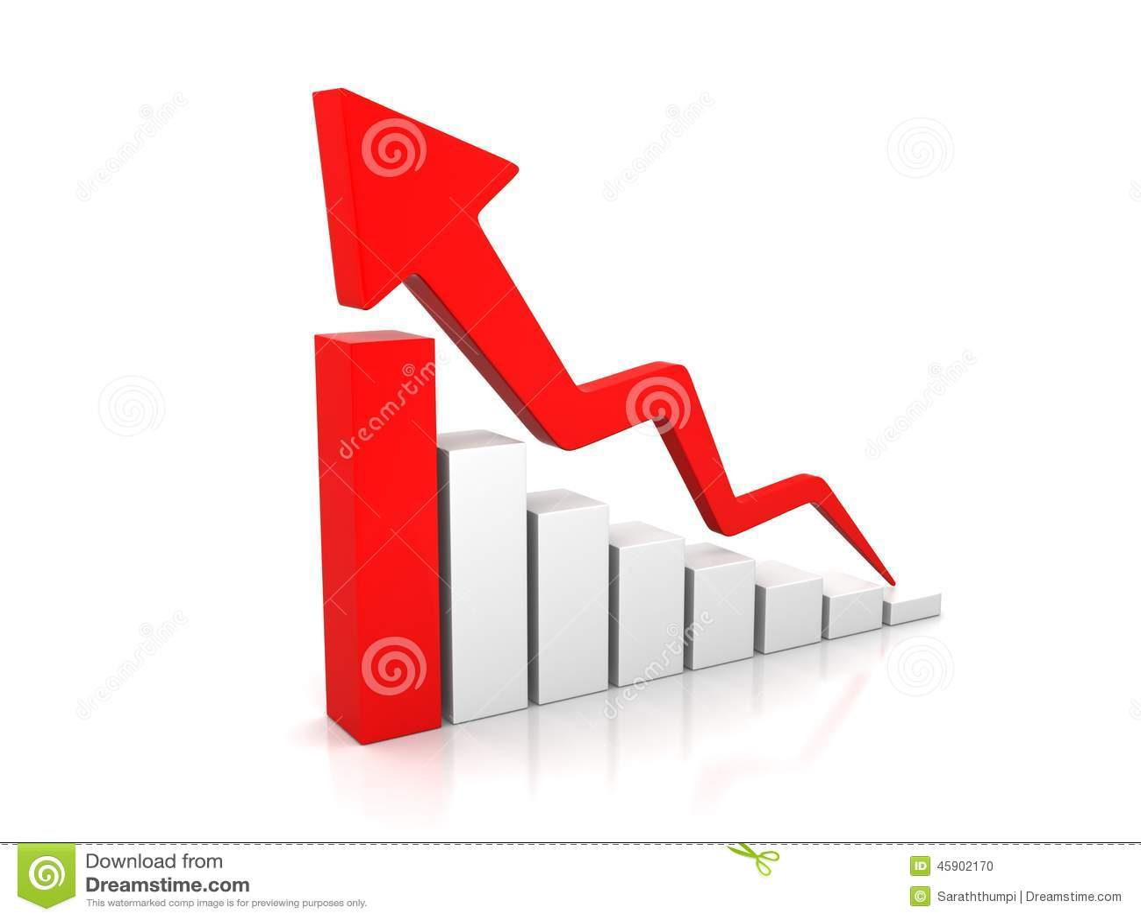 Business Growth Arrow stock illustration. Illustration of ...
